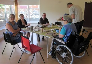 Pottery activity on June 11 at the Burton Centre